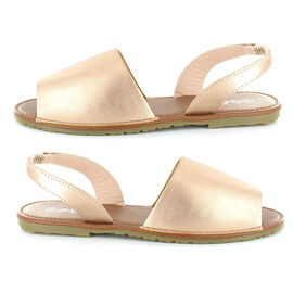 OLLY Palma Mule Sandal in Rose Gold
