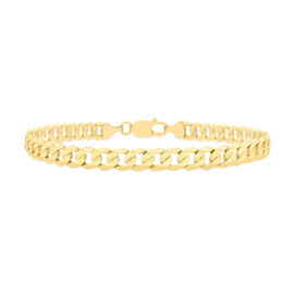 9K Yellow Gold Diamond Cut Curb Bracelet (Size 8), Gold wt 8.60 Gms