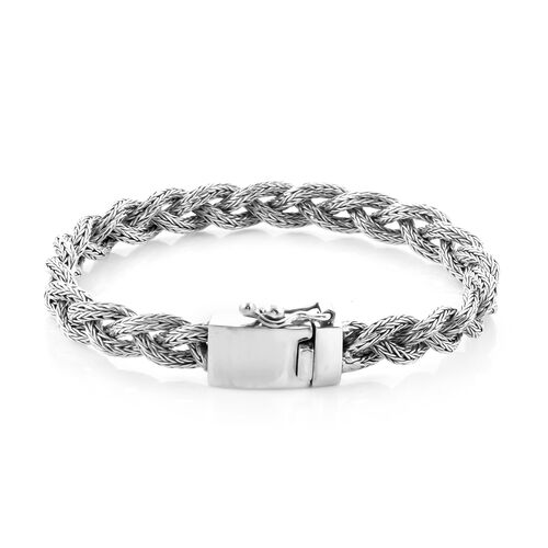 Royal Bali Collection - Sterling Silver Tulang Naga Kelabang Bracelet (Size 8), Silver wt 29.50 Gms