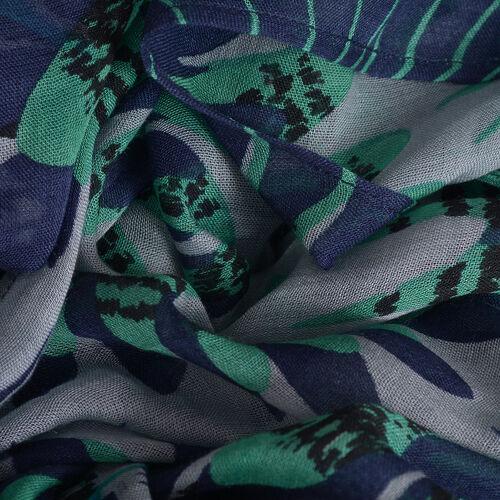 Green, Blue and Multi Colour Printed Kaftan (Size 85x65 Cm)