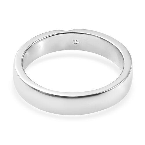RHAPSODY 950 Platinum IGI Certified Diamond (Rnd) (VS/E-F) Band Ring, Platinum wt 6.37 Gms