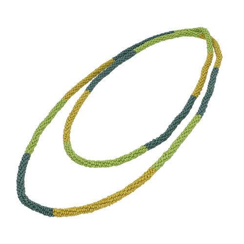 New Arrival- Endless Bead Necklace (Size 58) - Multi Colour