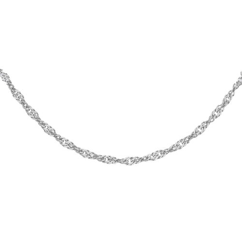 RHAPSODY Twisted Curb Chain in 950 Platinum 2.60 Grams 16 Inch