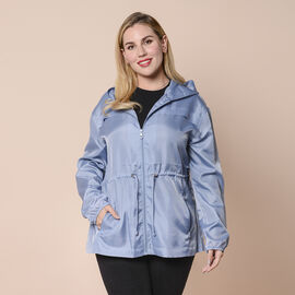 LA MAREY Water and Wind Resistant Packable Sky Blue Jacket - One Size - 8-18