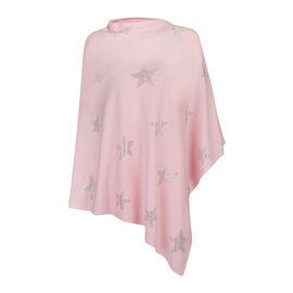 Kris Ana Star Poncho One Size (8-20) - Soft Pink