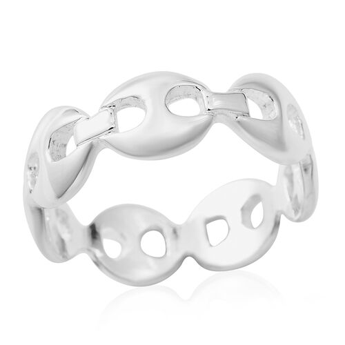 Limited Edition- Designer Inspired - High Polished Mariner Ring in Sterling Silver.