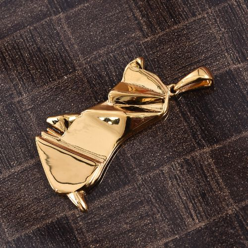 Origami Puppy Silver Pendant in Gold Overlay, Silver wt 5.21 Gms.
