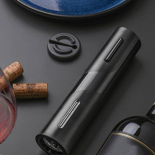 USB Rechargeable Automatic Electric Wine Opener (Size 25x4.8cm) - Black