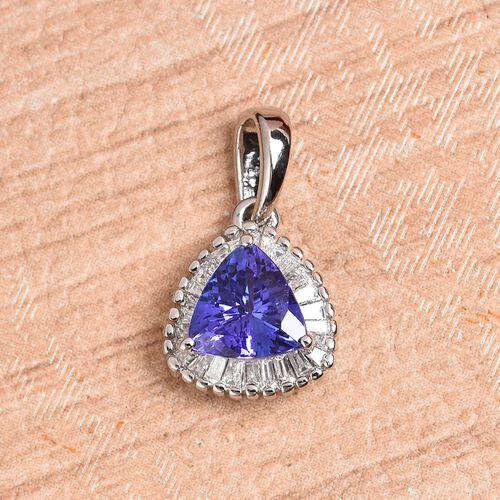 RHAPSODY 950 Platinum AAAA Tanzanite and Diamond (VS/E-F) Pendant 1.00 Ct.