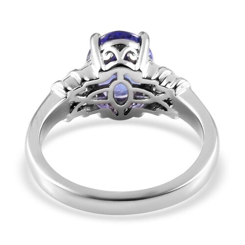 RHAPSODY 950 Platinum AAAA Tanzanite and Diamond (VS/E-F) Ring 2.15 Ct, Platinum wt 5.75 Gms