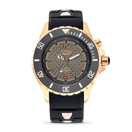 KYBOE Power Collection LED Watch 40MM - Rotating Bezel - 100M Water Resistance - Rose Gold Night
