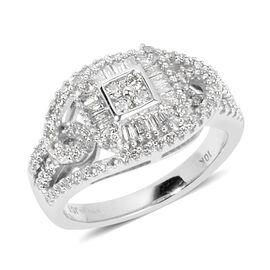 New York Close Out Deal- 9K White Gold Diamond (Rnd) (I1-I2) Ring 0.500  Ct.
