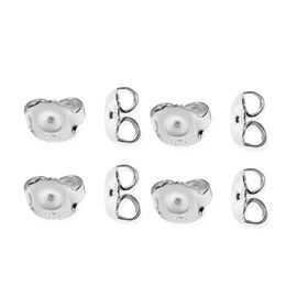 Set of 4 Pair Push Back in Sterling Silver