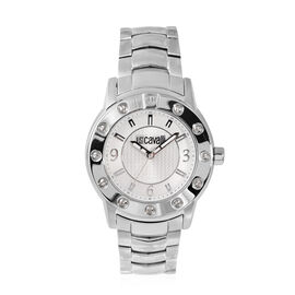 JUST CAVALLI: Swiss Movement Gentlemens Watch with Stainless Steel Strap And Engraved Dial
