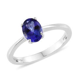 Rhapsody AAAA Tanzanite (1.00 Ct) 950 Platinum Ring  1.000  Ct.