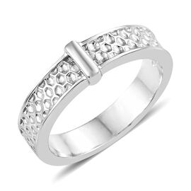 Platinum and Gold Overlay Sterling Silver Ring