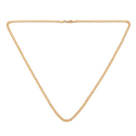 Royal Bali Collection - 9K Yellow Gold Double Rolo Necklace (Size 18) with Lobster Lock, Gold wt 3.0