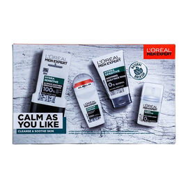 LOreal Men Expert: Calm As You Like (Incl. Natural Birch Sap HYDRA SENSITIVE - Shower Gel 300ml, Soo