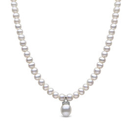 Clsoe Out Deal-Freshwater Pearl Necklace (Size 16.5) in Sterling Silver