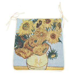 Signare Tapestry Seat Cushion - Sunflowers by Vicent van Gogh (34x37cm)