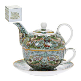 Lesser and Pavey - William Morris Strawberry Thief Teal Tea for One Set