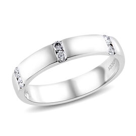 RHAPSODY 950 Platinum IGI Certified Diamond (Rnd) (VS/E-F) Band Ring 0.200 Ct., Platinum wt 5.98 Gms