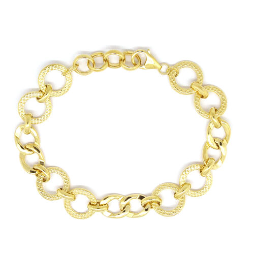 Designer Inspired  -9K Yellow Gold Bracelet (Size 7.5 with Half inch Extender), Gold wt 7.09 Gms.