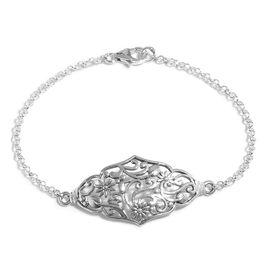 Designer Inspired- Sterling Silver Bracelet (Size 7.5), Silver wt 5.19 Gms