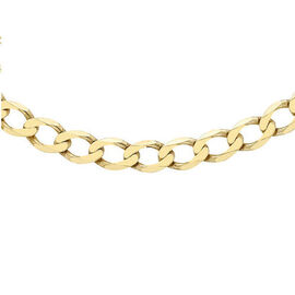 Hatton Garden Close Out 9K Yellow Gold Curb Necklace (Size 20), Gold Wt. 10.09 Gms