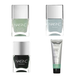 Nails Inc: Green Fingers Set (Incl. Thirsty Hands Hand Cream - 75ml, Superfood Base Coat - 14ml, Bru