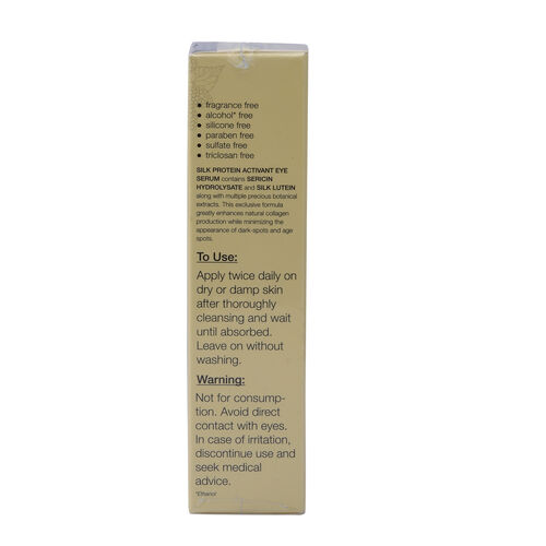 ZILKOLIG Sericulture Inspired Pure Silk Concentrate Protein Activant Eye Serum 15ml