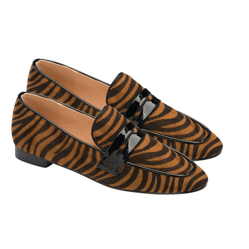 Ravel Tan Zebra-Print Luis Loafers (Size 3)