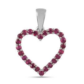 RHAPSODY 950 Platinum AAAA Burmese Ruby Heart Pendant