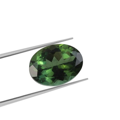 AAA Green Tourmaline Oval 8x6 Faceted 1.28 Cts