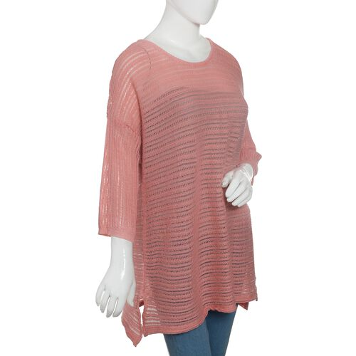 Close Out Deal 47% Cotton Pink Colour Knitted Apparel- XL