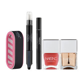 Nails Inc: Manicure In A Box (Incl. Caviar Base Coat, Caviar Top Coat, Vitamin E Cuticle Oil Pen, Ea