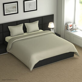 4 Piece Set - Super Soft Copper Infused 1 Fitted Sheet (140x190+30 Cm), 1 Flat Sheet (230x265 Cm) an