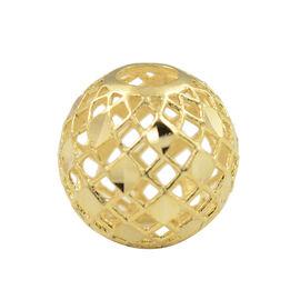 Italian Made - 9K Yellow Gold Diamond Cut Mesh Ball Pendant.