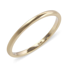 Royal Bali Collection - 9K Yellow Gold Solid Band Ring (Size M) Gold weight 1.4 0 Grams
