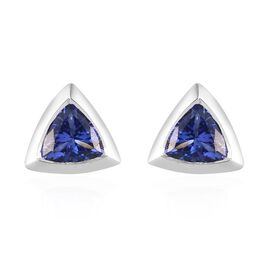 ILIANA 18K White Gold AAA Tanzanite Stud Earrings 1.00 Ct.