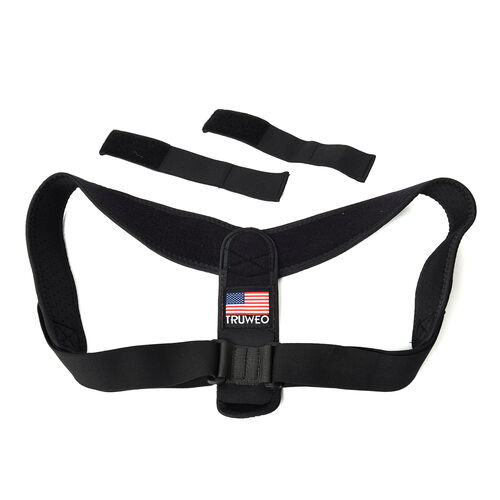 Posture Corrector with Adjustable Strap (Size 51x23 Cm) - Black