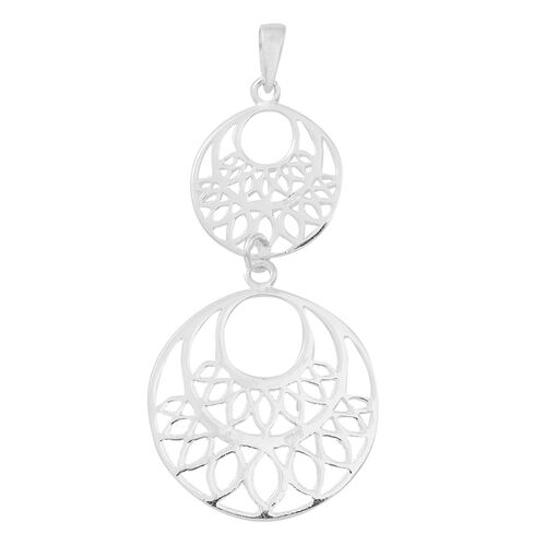 Vicenza Collection Designer Inspired Sterling Silver Pendant, Silver wt 3.70 Gms.