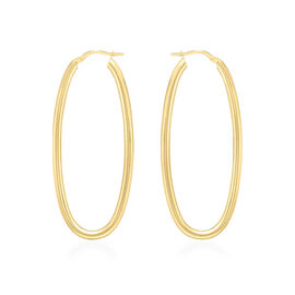 9K Yellow Gold Creole Earrings (with Clasp Lock), Gold wt 3.20 Gms