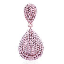ILIANA 18K Rose Gold Natural Pink Diamond (Rnd) (SI) Tear Drop Pendant 1.000 Ct. Number of Diamond 218