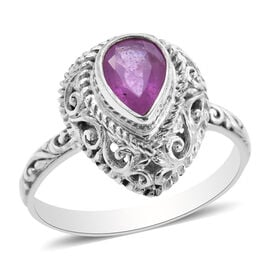 Royal Bali Collection - Pink Sapphire Ring in Sterling Silver 1.55 Ct.