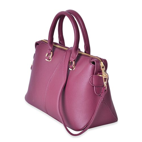 Burgundy Colour Tote Bag with Adjustable and Removable Shoulder Strap (Size 36X22X14 Cm)
