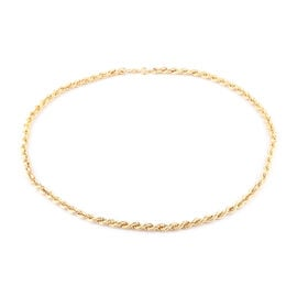 Value Buy- Close Out Deal 9K Yellow Gold Rope Chain (Size - 20) with Spring Ring Clasp, Gold wt. 9.1