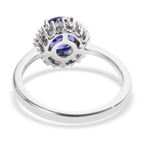 RHAPSODY 950 Platinum AAAA Tanzanite (Rnd), Diamond Ring 1.60 Ct.