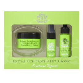 CB&CO: Enzyme Rich Protein Hyaluronic Set (Incl. Day & Night Cream - 50ml, Facial Oil - 30ml & Eye S