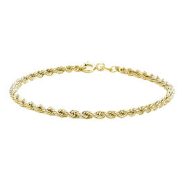 Rope Chain Bracelet in 9K Yellow Gold 7.25 Inch